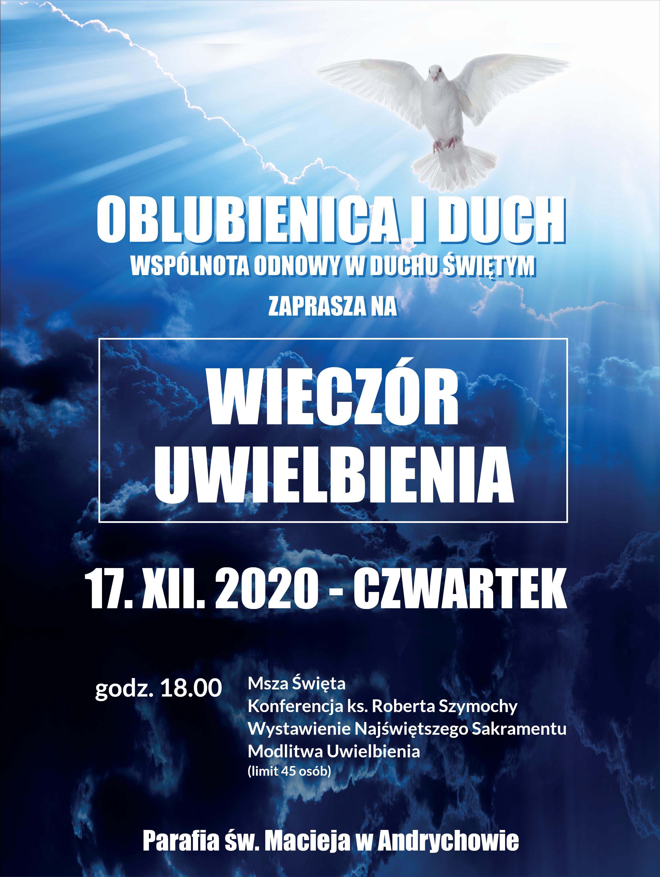 Wieczór Uwielbienia XII 2020